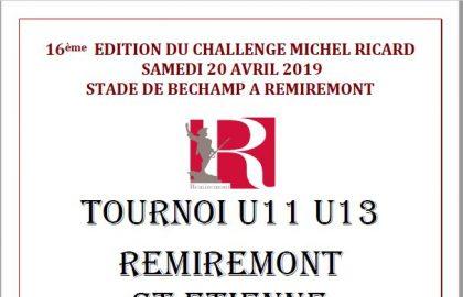 Plaquette Challenge Michel Ricard 2