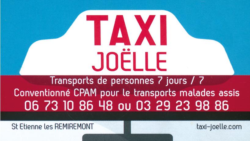 Logo taxi Joelle